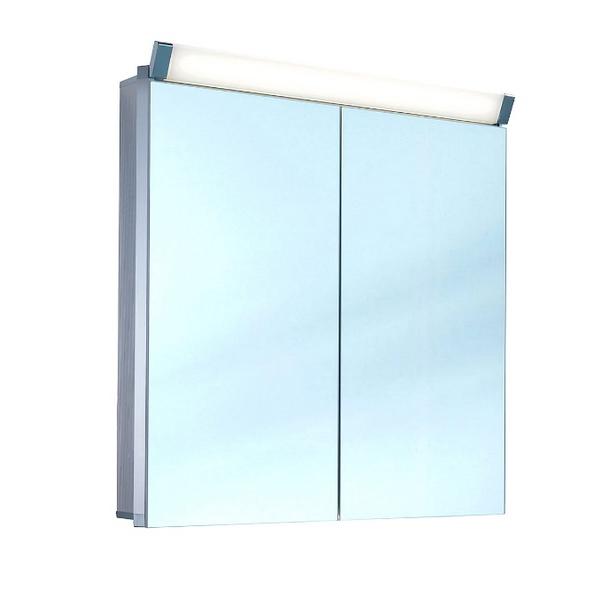 Schneider Paliline 600mm 2 Door Mirror Cabinet With LED Light