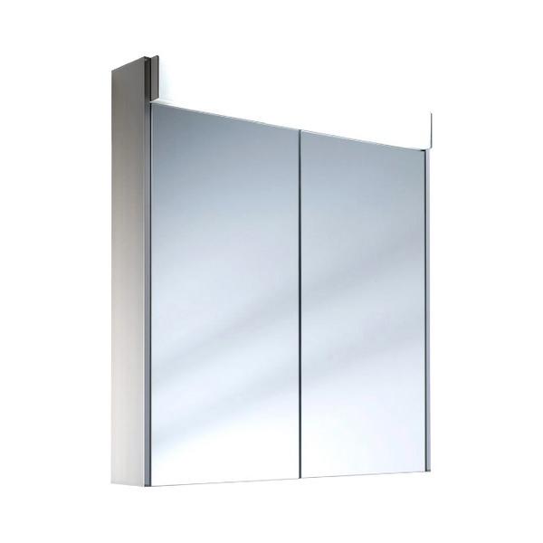 Schneider Moanaline 2 Door Mirror Cabinet 800mm With Overhead Light