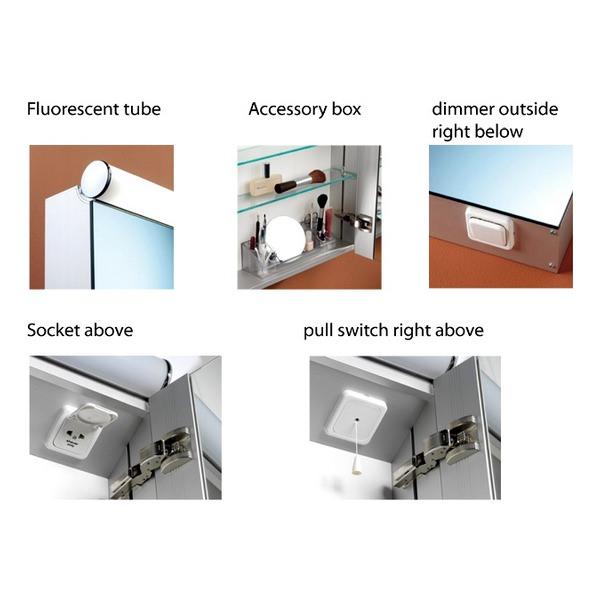 Additional image of Schneider Prideline 2 Door 1200mm Mirror Cabinet With Flourescent Lighting