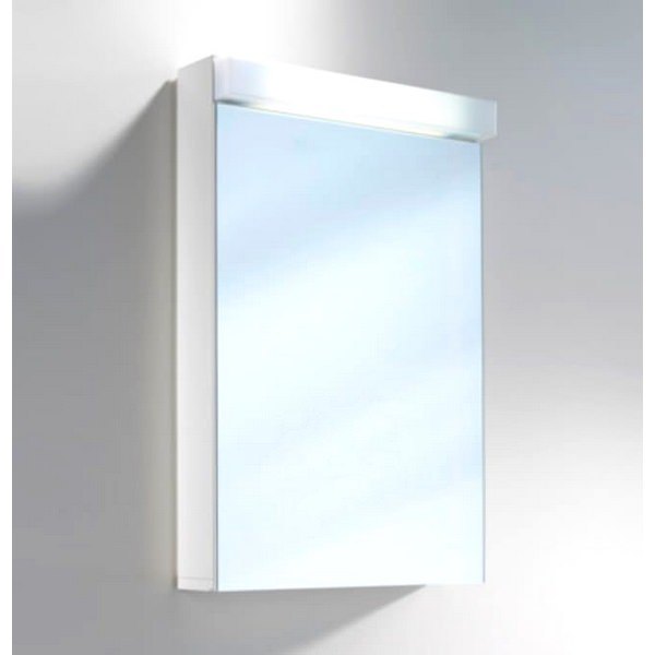 Schneider Lowline 500mm 1 Door Mirror Cabinet With LED Light