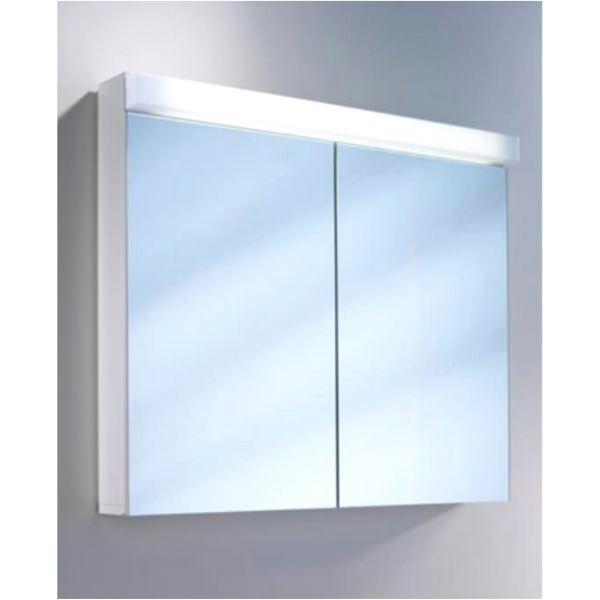 Schneider Lowline 2 Door Mirror Cabinet With LED Light 900mm