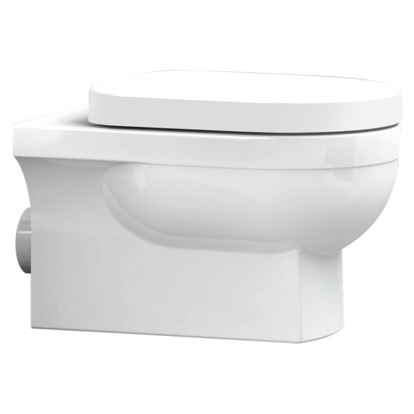 Utopia Quantum Square Wall Hung WC Pan With Soft close Seat 560mm