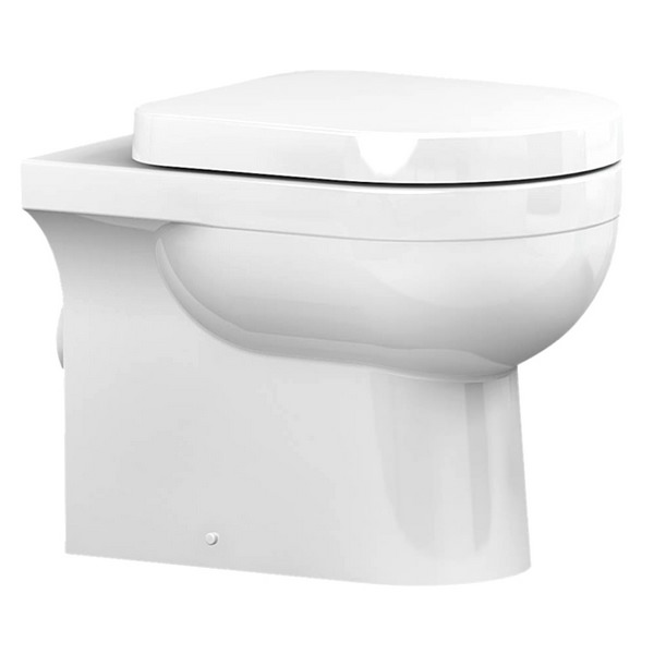 Utopia Quantum Round Back-To-Wall Pan With Soft Close Seat 550mm