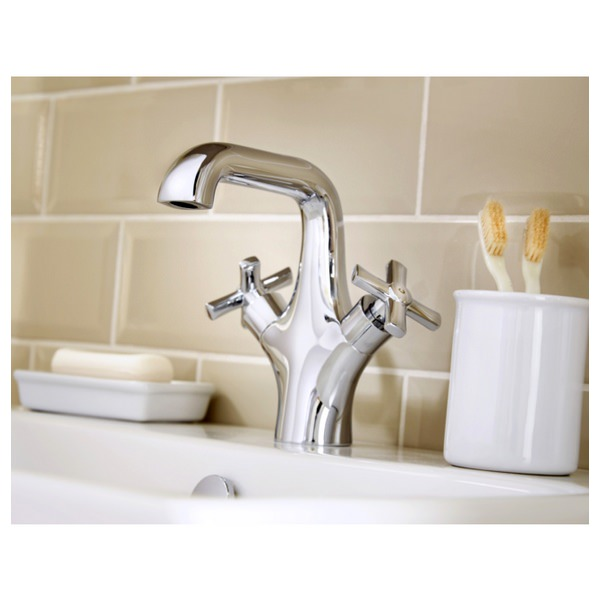 Alternate image of Utopia Savio Monobloc Basin Mixer Tap With Click Clack Waste