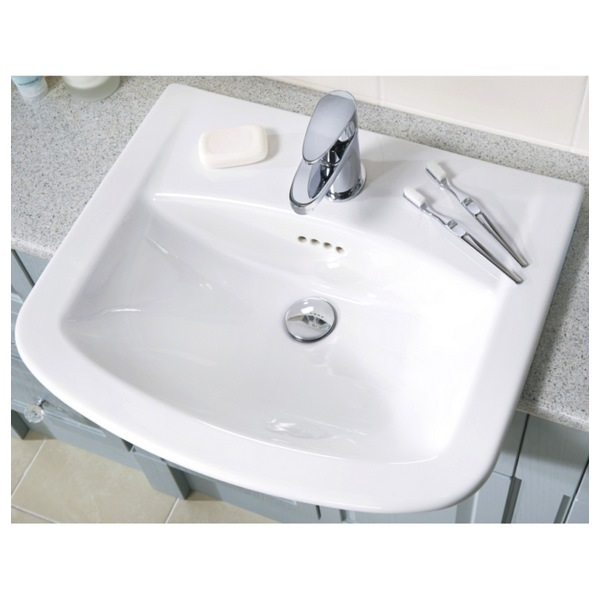Alternate image of Utopia Quantum Classical Semi-Recessed Standard Basin 560 x 480mm