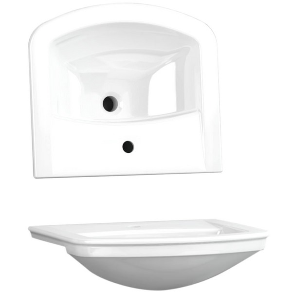 Utopia Quantum Classical Semi-Recessed Standard Basin 560 x 480mm