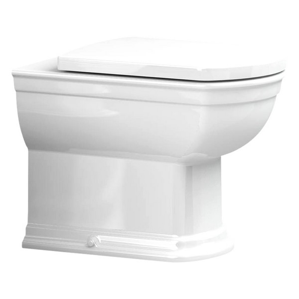 Utopia Quantum Classical Back-To-Wall Pan With Soft Close Seat