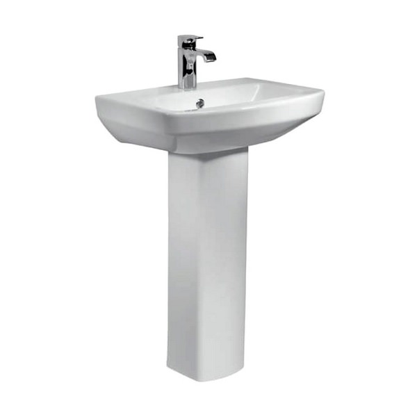 Kartell Aspect 550mm 1 Tap Hole Basin And Full Pedestal
