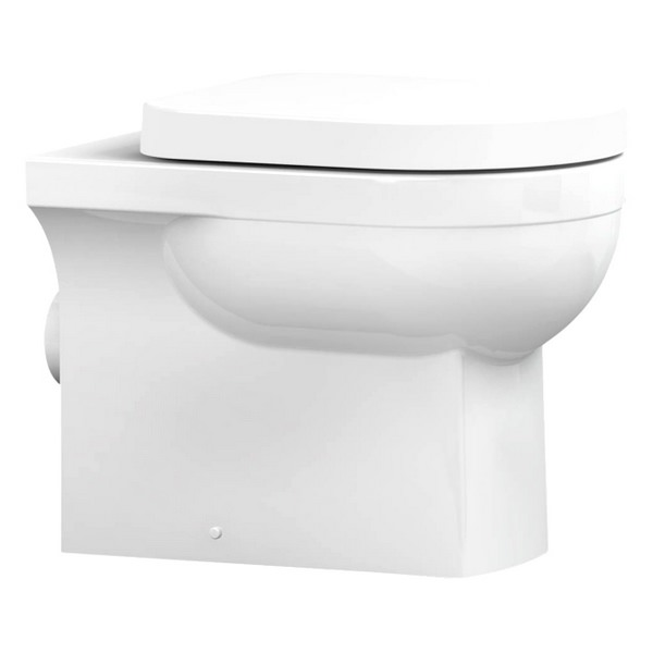Utopia Quantum Square Back-To-Wall Pan With Soft Close Seat 550mm