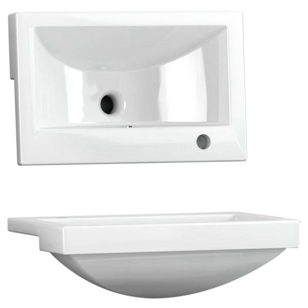 Utopia Quantum Square Semi-Recessed Short Projection Basin 550 x 350mm