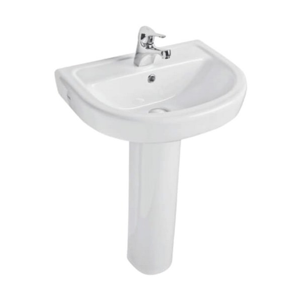 Kartell Ratio 550mm 1 Tap Hole Basin And Pedestal