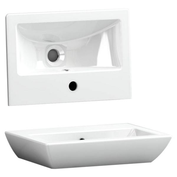 Utopia Quantum Square Elegant Deck Mounted Cloakroom Basin 455 x 310mm