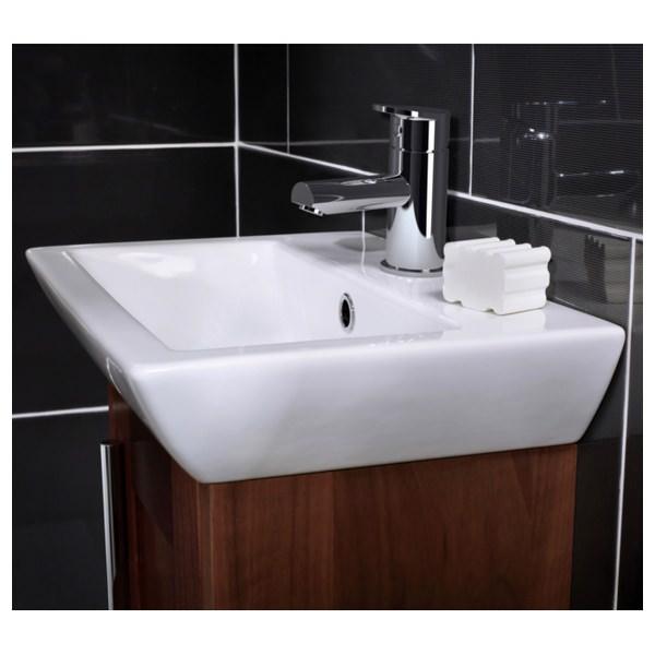 Alternate image of Utopia Quantum Square Elegant Deck Mounted Cloakroom Basin 455 x 310mm