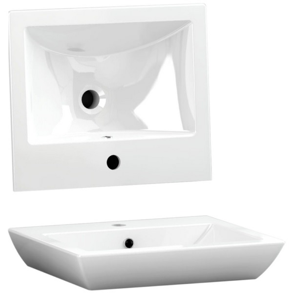 Utopia Quantum Square Elegant Deck Mounted Basin 500 x 420mm