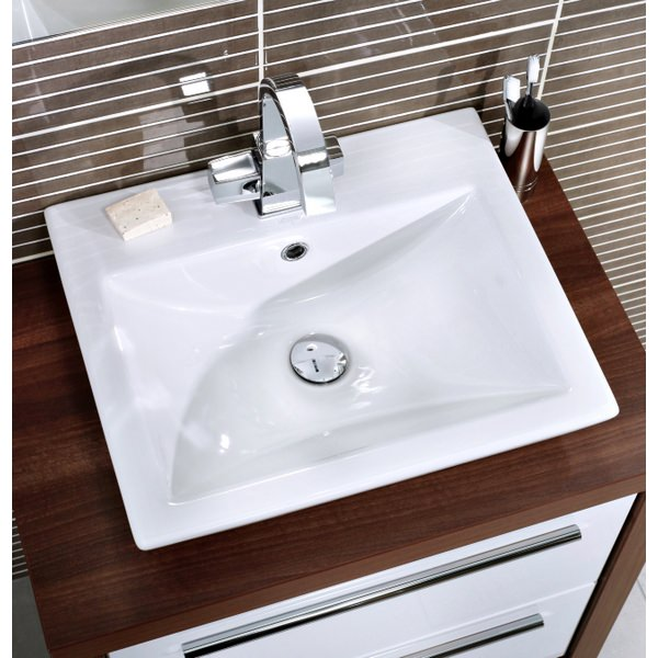 Alternate image of Utopia Quantum Square Elegant Deck Mounted Basin 500 x 420mm