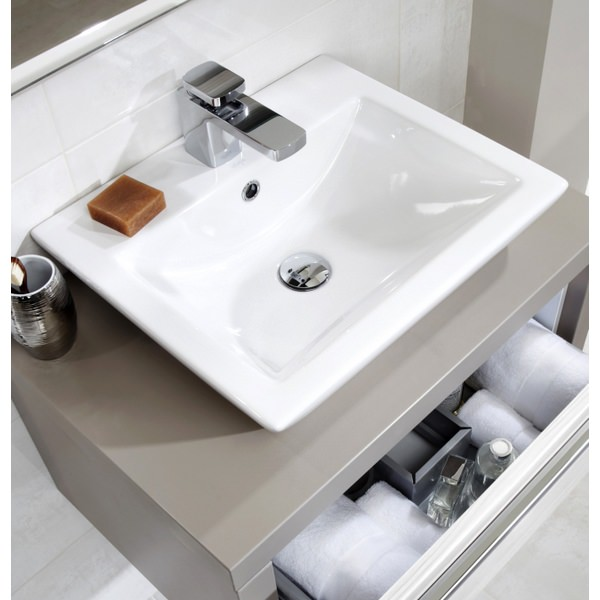 Additional image of Utopia Quantum Square Elegant Deck Mounted Basin 500 x 420mm