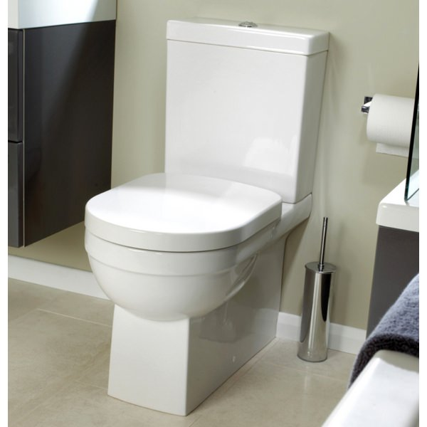 Alternate image of Utopia Quantum Square Close Coupled Back-To-Wall WC With Soft Close Seat