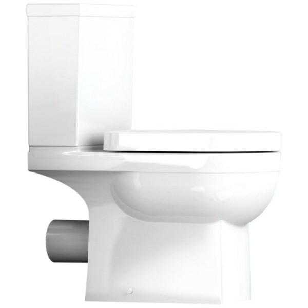 Utopia Quantum Square Close Coupled WC With Soft Close Seat 650mm