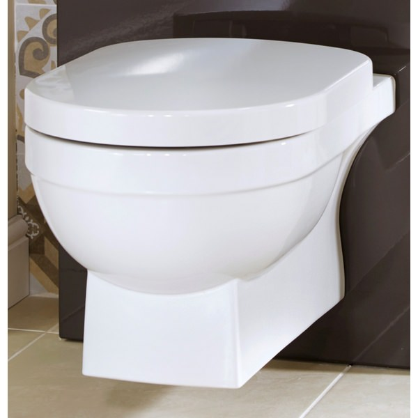 Alternate image of Utopia Quantum Square Wall Hung WC Pan With Soft close Seat 560mm