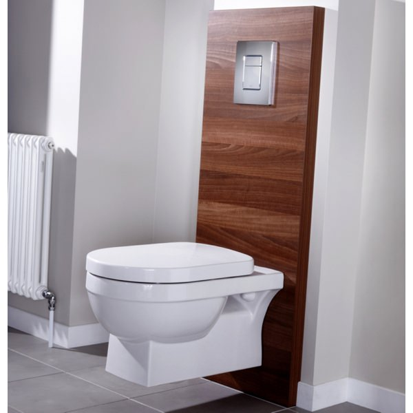 Additional image of Utopia Quantum Square Wall Hung WC Pan With Soft close Seat 560mm