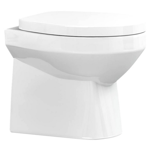 Utopia Matese Back-To-Wall WC Pan With Soft Close Seat 505mm