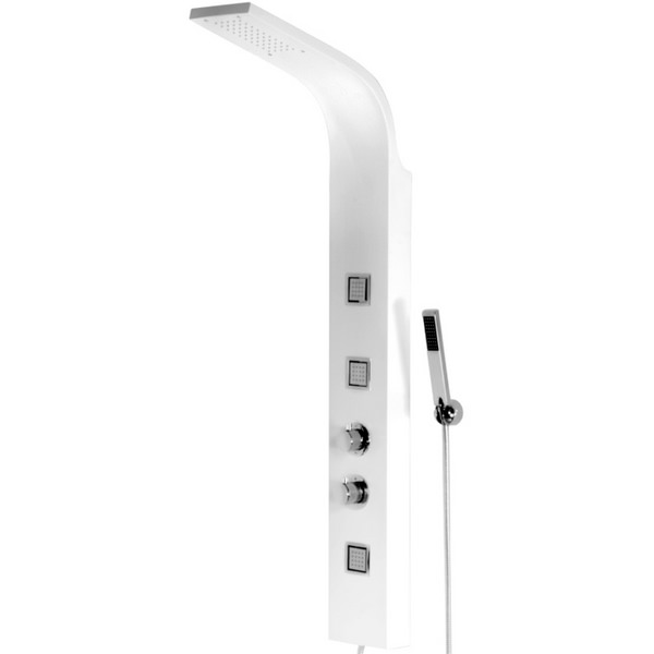 Cassellie White Thermostatic Shower Panel