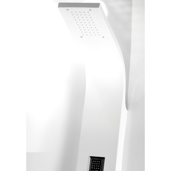 Additional image of Cassellie White Thermostatic Shower Panel