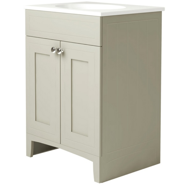 Noble Classic Ivory 500mm Double Door Unit With Basin