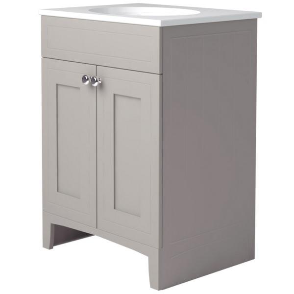 Noble Classic Earl Grey 600mm Double Door Unit With Basin