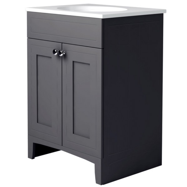 Noble Classic Graphite 600mm Double Door Unit With Basin