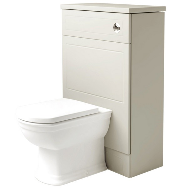 Noble Classic Ivory 550mm Back To Wall WC Unit