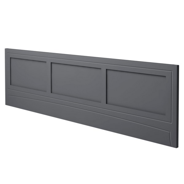 Noble Classic Graphite Bath Side Panel 1800mm