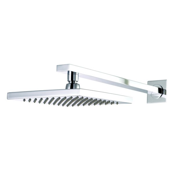 Utopia Fixed Rectangular Drench Shower Head With Straight Arm