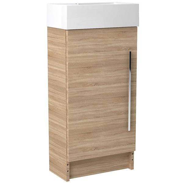 Noble Modular Natural Oak 400mm Freestanding Cloakroom Basin Unit