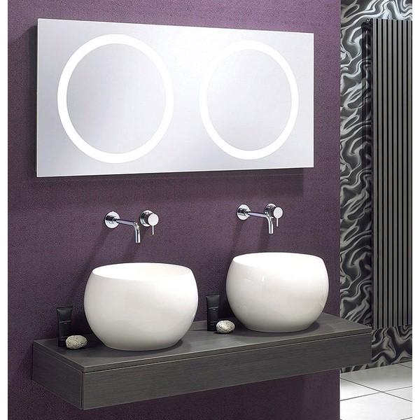 Alternate image of Bauhaus Edge 120 LED 1200mm Illuminated Mirror With Demister Pad