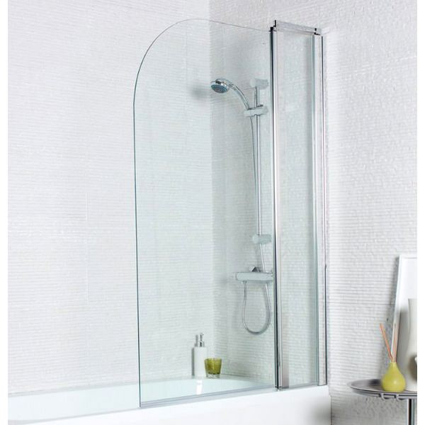 Kartell Koncept 1000 x 1400mm Straight Bath Screen With Extension Panel