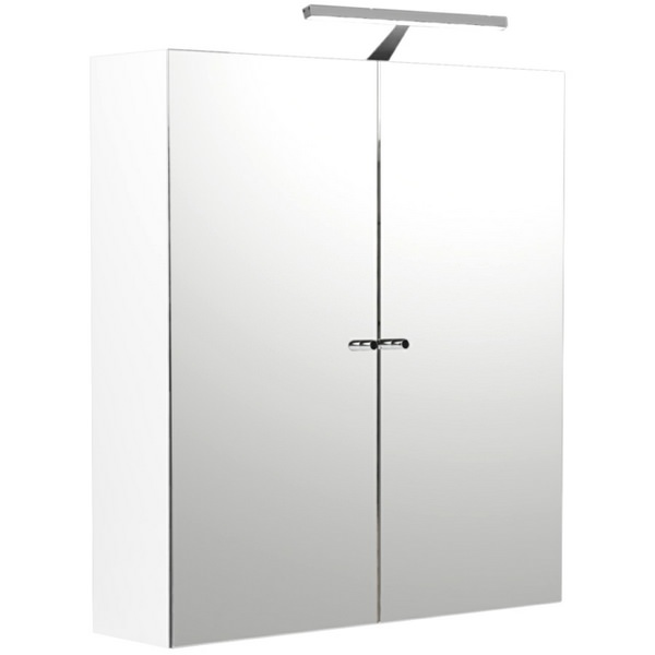 Noble Modular White Gloss Double Door Mirror Cabinet 600 x 660mm