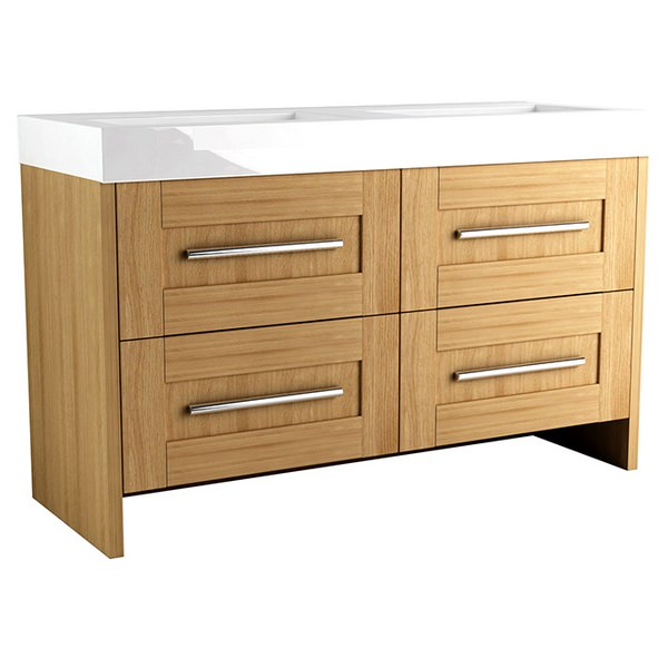 Timber Modular 1200 Freestanding 2 Drawer Unit With Mineralcast Basin