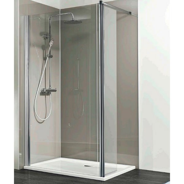 HSK Walk In Easy 1 Shower Panel With Inline Panel 1400 x 350 x 2000mm