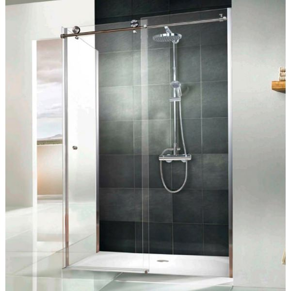 HSK Regency Single Slider Shower Door With Side Panel 1000 x 800mm