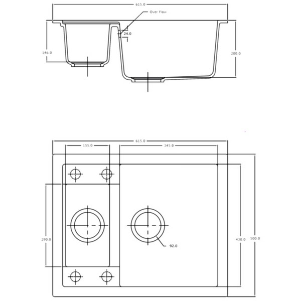 Technical drawing B3-11961 / SD/615/I/PQ/REV/WH/801