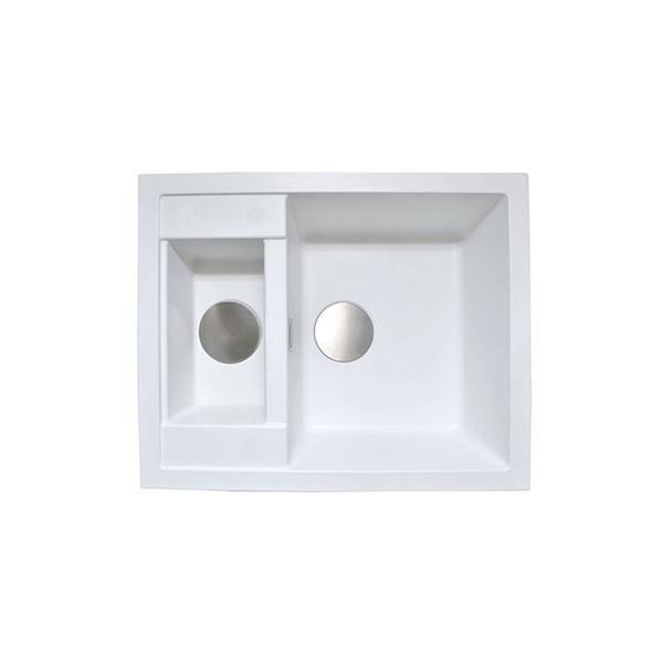 1810 Company Purquartz Shardduo 615i 1.5 Bowl Inset Sink White