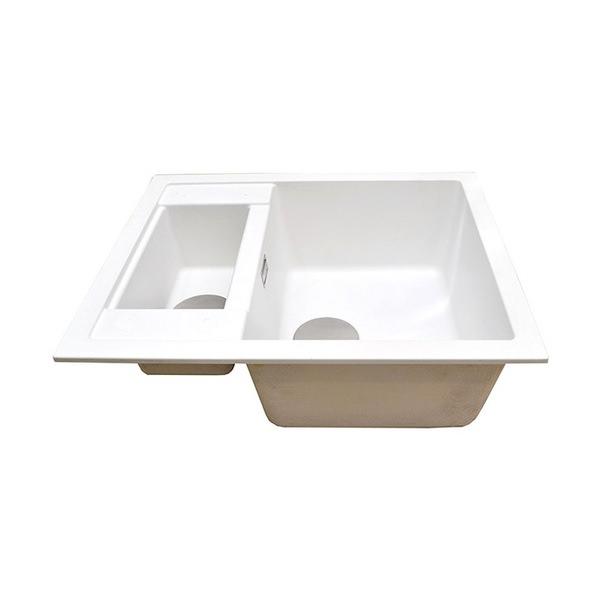 Additional image of 1810 Company Purquartz Shardduo 615i 1.5 Bowl Inset Sink White