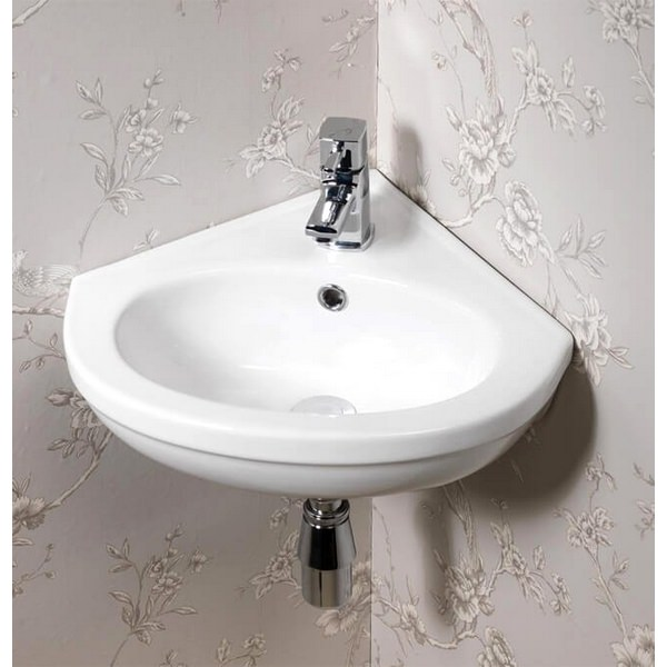 QX Carolina 465 x 425mm Corner Basin With 1 Tap Hole