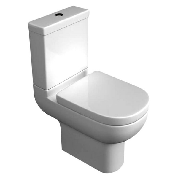 QX Alaska Close Coupled WC Pan With Cistern And Soft Close Seat