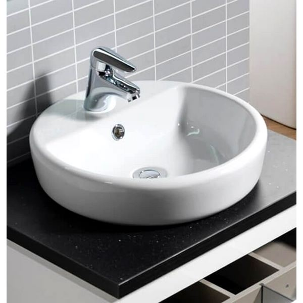 QX Caspia 440 x 440 Round Vanity Basin With 1 Tap Hole