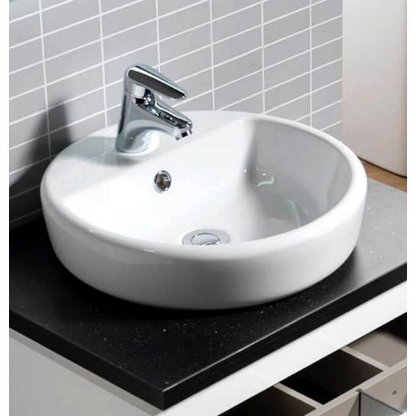 QX Caspia 440 x 440 Round Vanity Basin With 1 Tap Hole