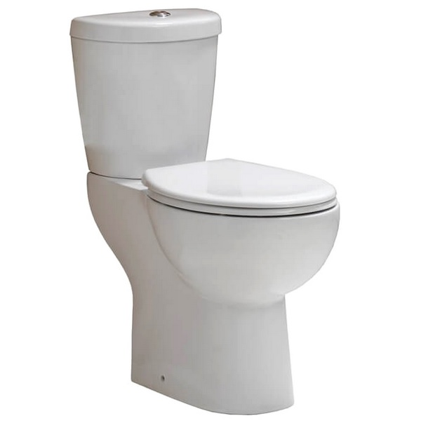 QX Comfort Elevated Height Close Coupled Pan With Cistern And Soft Close Seat