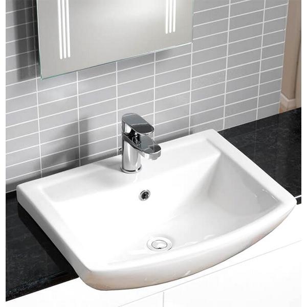 QX Eden 550 x 430mm Semi-Recessed Basin