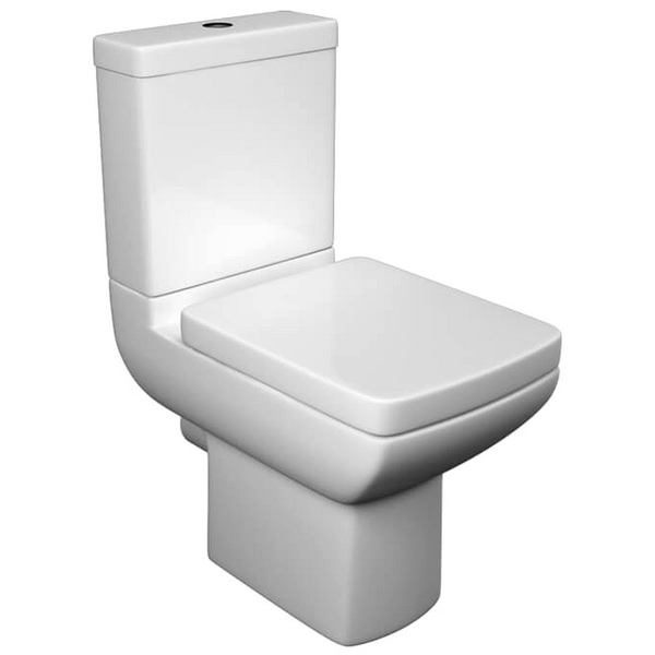 QX Eden Close Coupled Pan With Cisern And Soft Close Seat